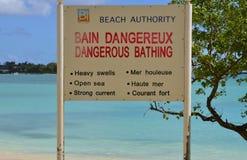 África, grande costa da baía em Mauritius Island Imagem de Stock