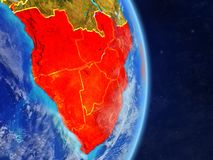 África meridional en la tierra del planeta libre illustration