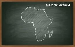 África no quadro-negro Fotografia de Stock Royalty Free