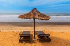 África ocidental Gâmbia - praia do paraíso imagens de stock royalty free