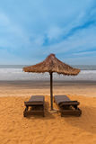 África ocidental Gâmbia - praia do paraíso fotografia de stock royalty free