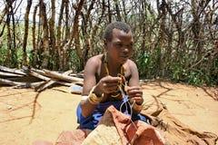 África, Tanzania, tribu de Datoga de la mujer imágenes de archivo libres de regalías