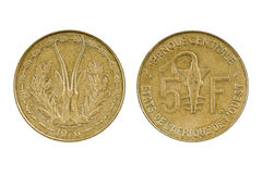 Áfricas occidentales francesas de la moneda - Togo Imagen de archivo