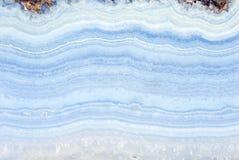 Ágata azul Fotografia de Stock Royalty Free