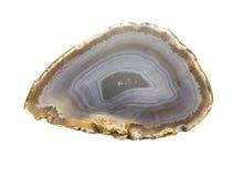 Ágata azulada e branca Imagem de Stock
