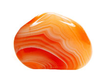 Ágata com o cristal geological da calcedónia Imagem de Stock Royalty Free