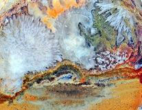 Ágata con colores naturales Foto de archivo libre de regalías