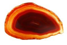Ágata con el cristal geológico de la calcedonia Imagen de archivo libre de regalías
