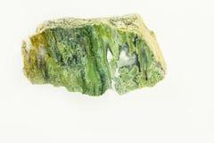 Ágata de musgo - fundo isolado branco Fotos de Stock Royalty Free