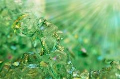 Ágata verde de los cristales del fondo Macro Foto de archivo libre de regalías