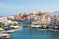 Ágios Nicolaos - Crete, Greece Imagens de Stock Royalty Free