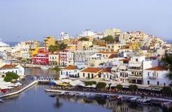 Ágios Nikolaos, Crete Fotos de Stock Royalty Free