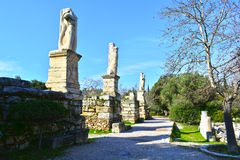 Ágora antiga de Atenas clássica Fotos de Stock Royalty Free