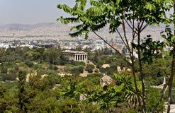 Ágora antiga de Atenas, Greece foto de stock