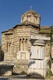 Ágora antiga na cidade de Atenas em Greece Fotografia de Stock