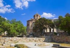 Ágora antiguo en Atenas, Grecia Imagen de archivo libre de regalías
