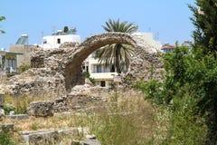 Ágora antiguo en la capital de la isla de Kos Foto de archivo libre de regalías