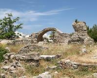 Ágora antiguo en la capital de la isla de Kos Imágenes de archivo libres de regalías