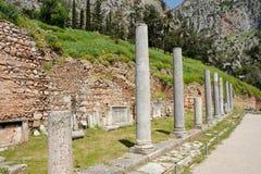 Ágora en Delphi Imágenes de archivo libres de regalías