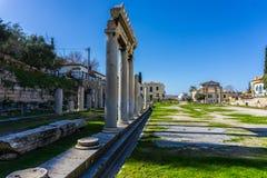 Ágora romana do mercado abaixo em Atenas Grécia Fotos de Stock Royalty Free
