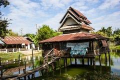 A água é templo muito velho Imagens de Stock Royalty Free
