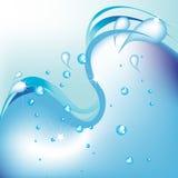 Água abstrata Ilustração do Vetor