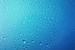 A água abstrata deixa cair o fundo Fotos de Stock