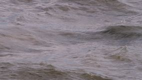 Água agitada do oceano do mar filme