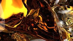 A água alaranjada espirra no fundo preto illustraton 3d Imagens de Stock