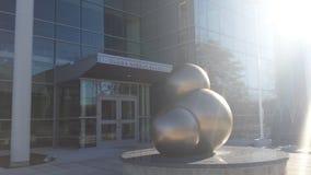 Água Atom Sculpture Fotos de Stock