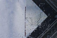 Água através do vidro Fotografia de Stock