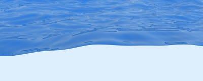 Água azul Imagens de Stock