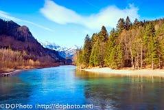 Água azul Fotos de Stock