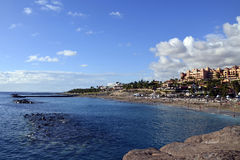 Água azul bonita do oceano da praia do EL Duque foto de stock royalty free