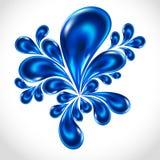 Água azul da gota do respingo, fundo abstrato ilustração stock