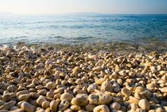 Água azul do mar de adriático imagem de stock