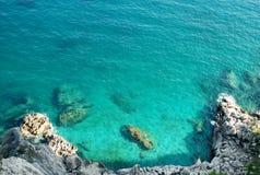 Água azul do oceano Fotos de Stock