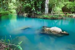 Água azul na lagoa no vieng do vang, Fotografia de Stock Royalty Free