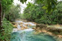 Água Azul Waterfalls em México Imagens de Stock