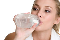 Água bebendo adolescente foto de stock