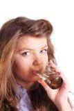 Água bebendo da mulher imagem de stock royalty free