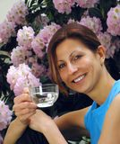 Água bebendo da rapariga Fotos de Stock Royalty Free