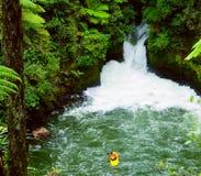 Água branca que kayaking fotos de stock