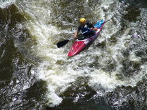 Água branca que kayaking Fotografia de Stock Royalty Free