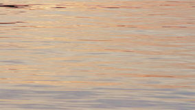 Água brilhante que rippling na superfície de um lago do norte no por do sol video estoque