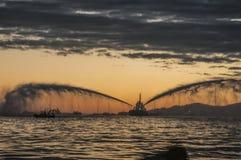 A água Canon envia o crepúsculo Foto de Stock Royalty Free