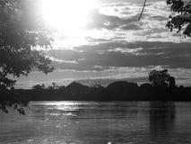 Água cinzenta do por do sol Imagens de Stock Royalty Free
