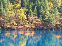 Água clara Jiuzhaigou Natureza reservado Parque nacional chengdu imagens de stock