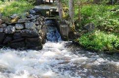 A água começa a ser espuma foto de stock royalty free