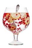 Água da desintoxicação do limão do arando Fotografia de Stock